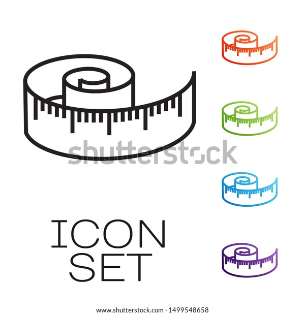 Vector Illustration Of Tape Measure Or Measuring Tape Clipart - Full Size  Clipart (#1543345) - PinClipart