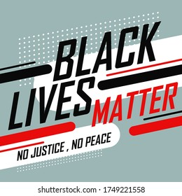 Black lives matter abstract retro design for campaign against racial discrimination of dark skin color. Stand up against racism. Black community. No justice No peace. Stop Police Brutality.