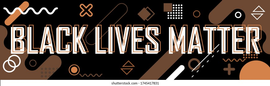 Black lives matter banner for protest, rally or awareness campaign against racial discrimination based on dark skin color. Support for equal rights of black people. Police Brutality in USA america