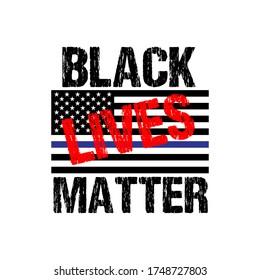 Black Lives Matter Text Vektorvintage