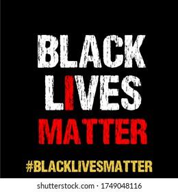 Black Lives Matter kalligraphischer Text Vektorvintage