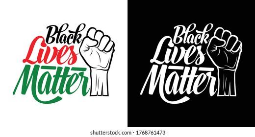 Black Lives Matter Printable Vector Illustration