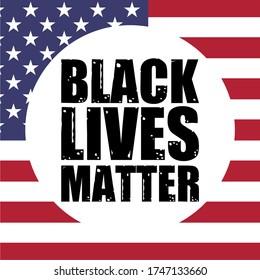 Black Lives Matter calligraphic text vektorvintage