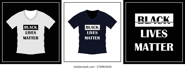 Black lives matter typography t-shirt design. print ready, vector illustration. Global swatches