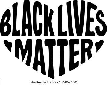 Black lives matter vector illustration, sign, printable. Protest symbol, human rights, black people.