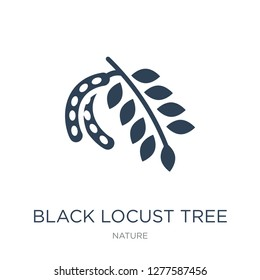 black locust tree icon vector on white background, black locust tree trendy filled icons from Nature collection, black locust tree vector illustration