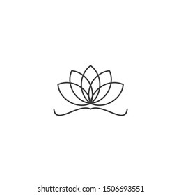 black lotus icon template color editable. black lotus symbol vector sign isolated on white background illustration for graphic and web design.