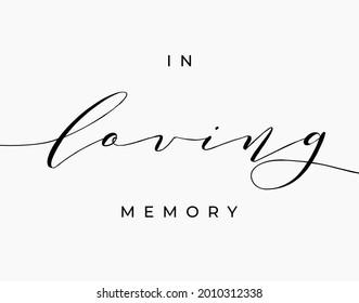 Black in loving memory sign