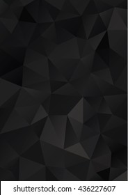 Black Low Poly Geometric Background