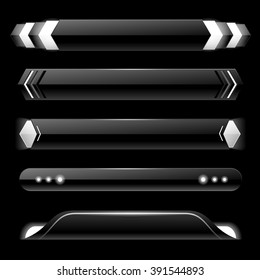 Black lower third banner bar screen broadcast - vector illustration