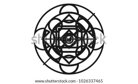 Black Magic Symbol Stock Vector Royalty Free 1026337465 Shutterstock