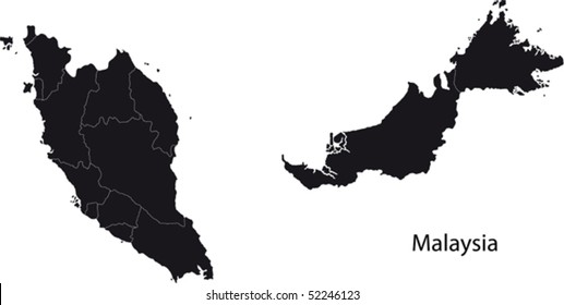 Malaysia Map Images, Stock Photos & Vectors | Shutterstock