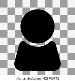 Black Man icon vector on transparent background