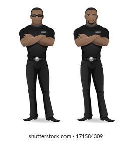 Black man security guard of nightclub