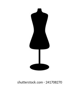 black mannequin icon. isolated on white background. modern vector illustration