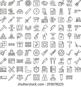 Black manufacture icon set