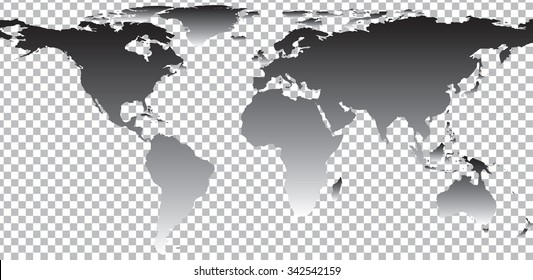 Outline map world on white background stock vector 340612946 black map of world on transparent background vector illustration gumiabroncs Choice Image