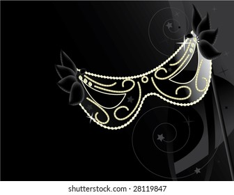 Black mask background - vector