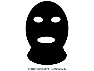 Black mask of a thief and murderer.