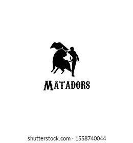 Black matador logo icon vector.