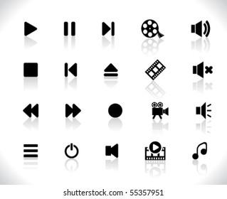 Black media icons