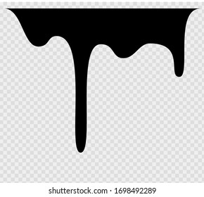 Black melt drips or liquid sauce drops. Black liquid or melted chocolate drips, current paint