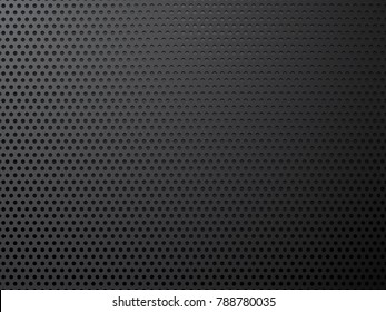 black metal perforated background