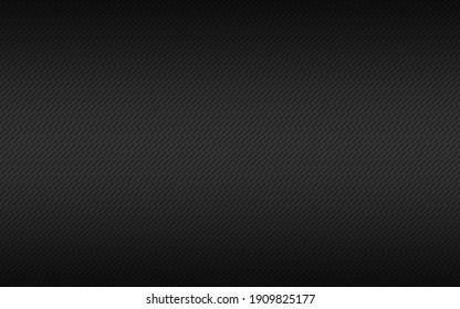 Black metal plate texture. Stainless steel background with black gradient and diagonal lines. Modern vector illustration