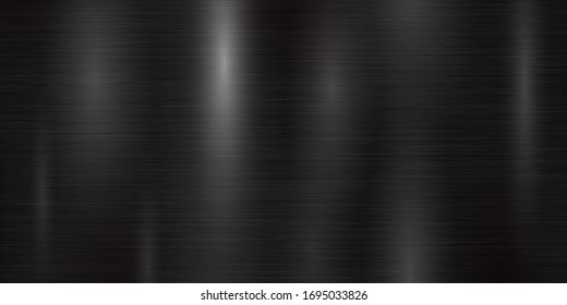 Black metal texture background background, foil texture, shiny and metal steel gradient template. Brushed stainless steel pattern – stock vector