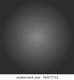 Black metallic background, vector illustration