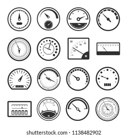 electric meter icon images stock photos vectors shutterstock Toyota Wiring Diagrams Automotive black meter icon set instruments for measuring distance travelled by a vehicle car speed
