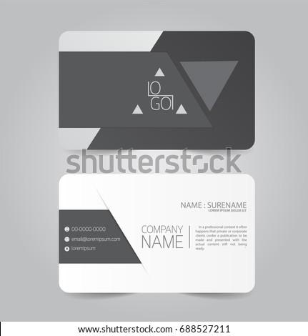 black modern business name card template