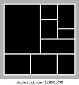 Black mood board template