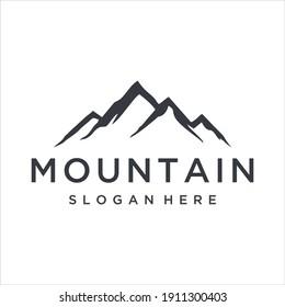 Black mountain logo design template