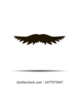 Black moustache creative flat retro design. Simply and beauty. for logo, barbershop, background. Moustache set isolated on white background.