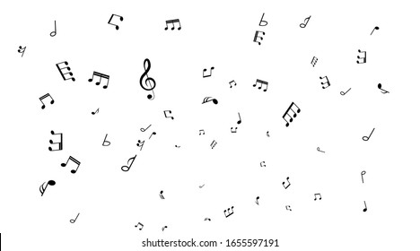 Black musical notes icon design.Note music icon set.