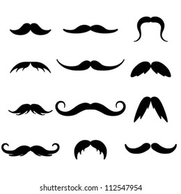 black mustaches set