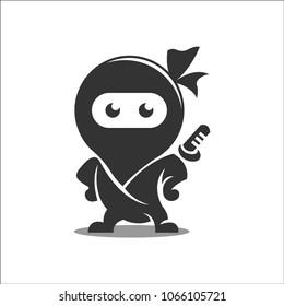 Black Ninja Mascot