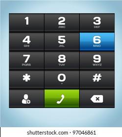 Black Number Phone Keypad