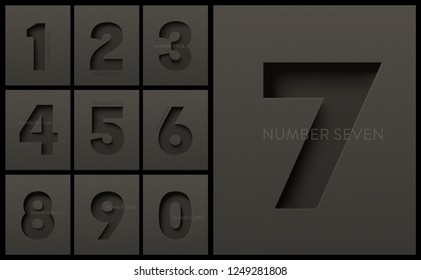 Black Numbers CoolectionPrint