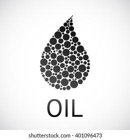 Black Oil drop isolated vector illustration. Black Oil concept. Oil Trading.