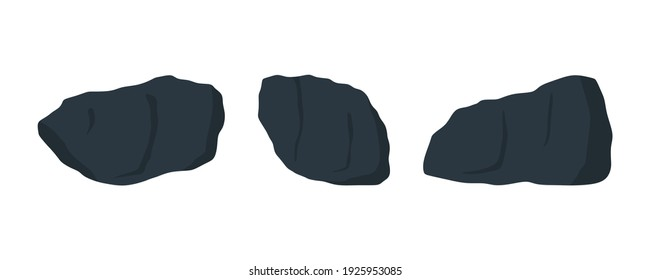 Black oil shale sample set. Very fine grain sedimentary rock.