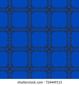 Black on blue grid - the word love reflected into a grid