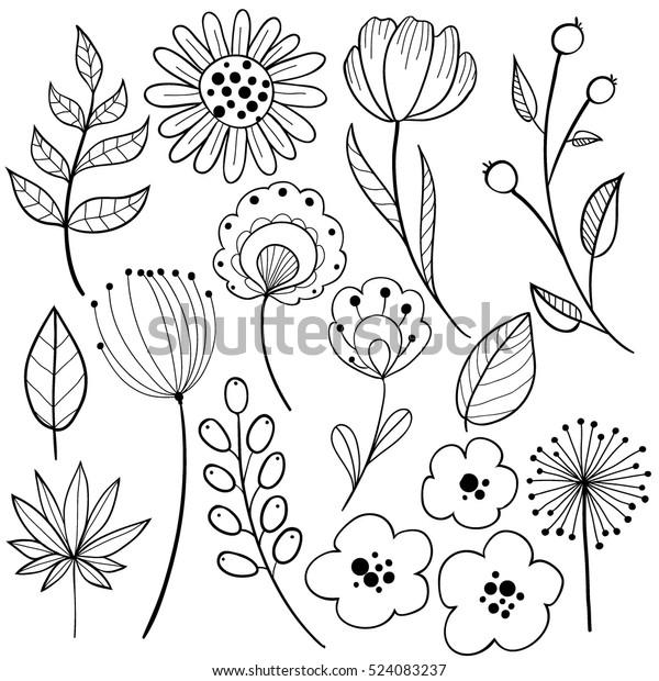 Image Vectorielle De Stock De Un Dessin En Noir Sur Blanc