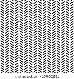 Black on white sketch herringbone pattern