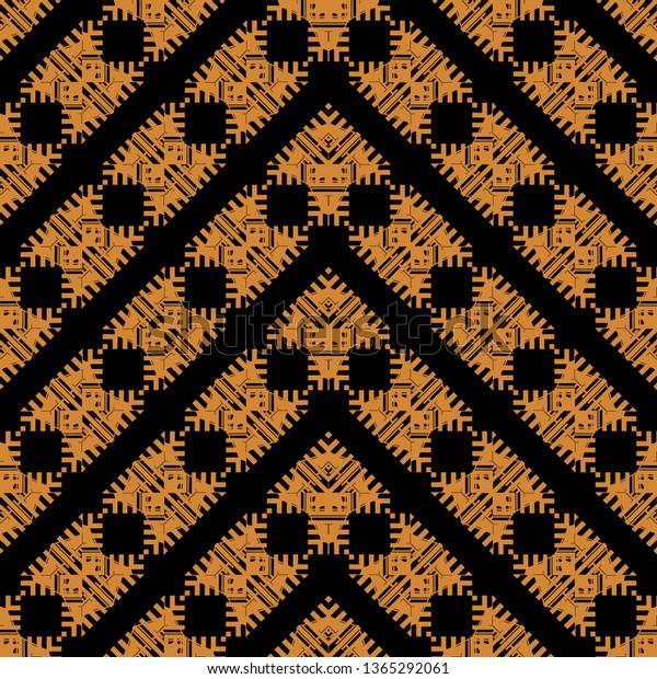 black orange art deco seamless 600w 1365292061