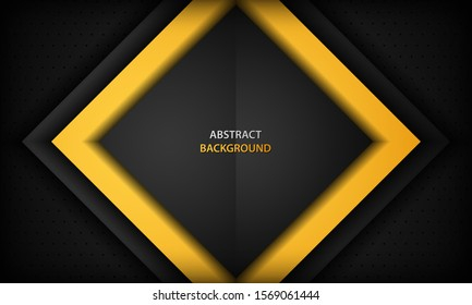 Black and orange corporate background. Texture with dark metal pattern. Vector illustration.