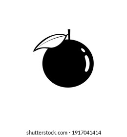 Black orange icon on white background