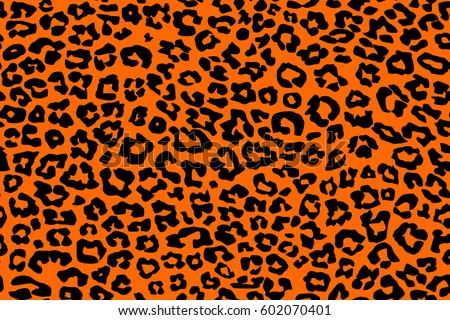 9212cabbf708 Black Orange Leopard Pattern Texture Repeating Stock Vector (Royalty ...