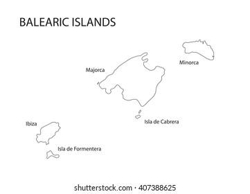Islas Baleares Mapa Fisico.Ilustraciones Imagenes Y Vectores De Stock Sobre Baleares